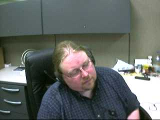 Dave sleeping at work