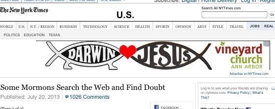Darwin/Jesus slash