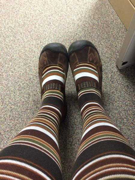 stripy tights!