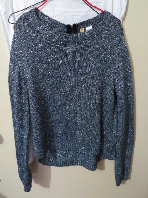 H&M Dark Blue Glitter Sweater (EUR 34 / US 4) - BNWT, $20 WITH ...