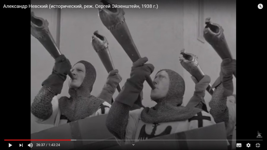 Александр Невский фильм трубы