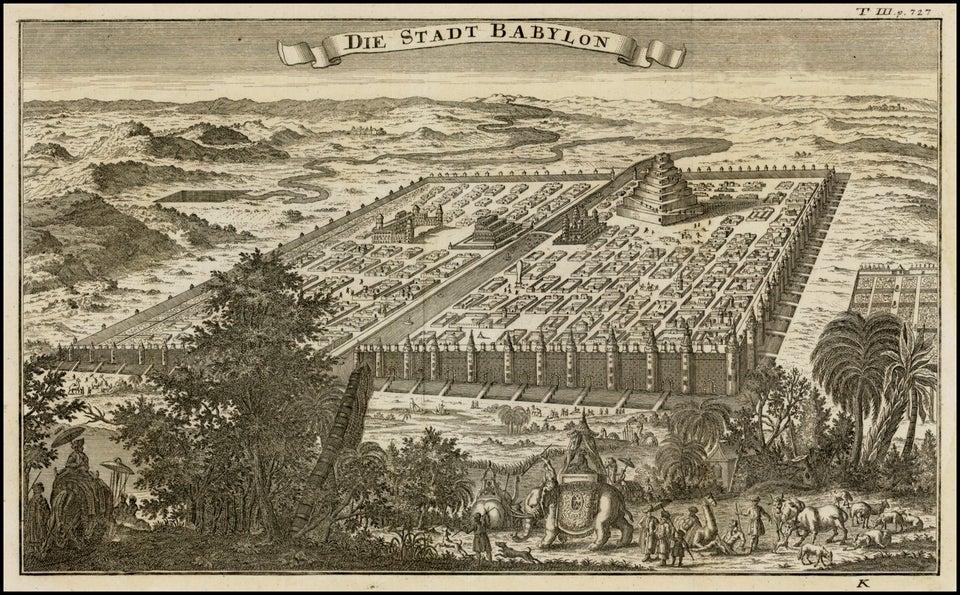 Вавилон по мнению немецкого художника 1750