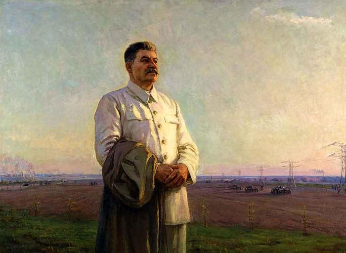 Федор Шурпин «Утро нашей Родины», 1946—1948 гг. Сталин