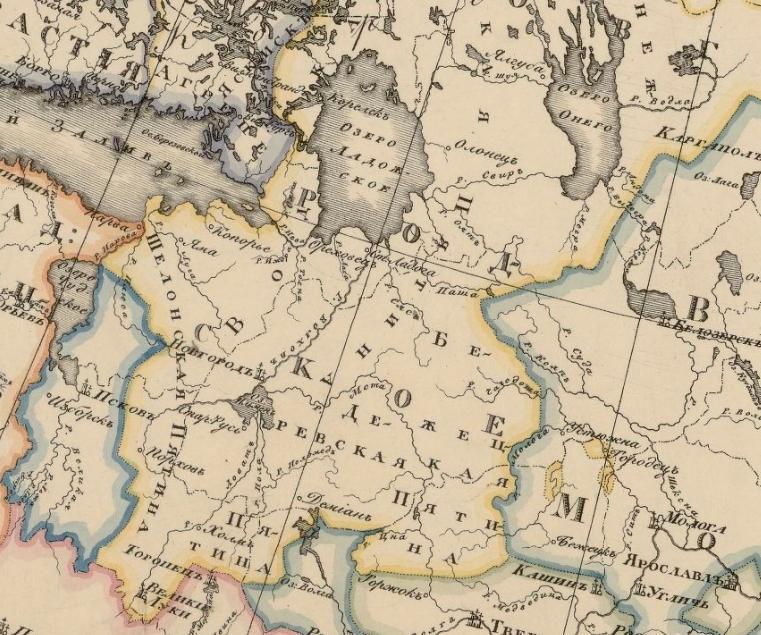 Новгород 1 КАРТА ДЛЯ ИЗЪЯСНЕНІЯ КЪ СОЧИНЕНІЮ О ПОЛОЖЕНІИ ЮГОРСКОЙ ЗЕМЛИ