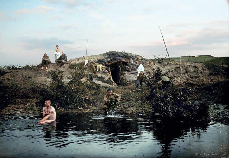 Банный день в деревне.