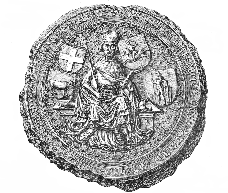 Большая («маестатная») печать Витовта, 1407.