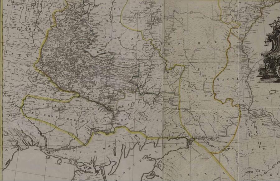 Копия Шмидт, Я. Ф. Пограничная карта Российской и Турецкой империи и Польши  1769 — копия