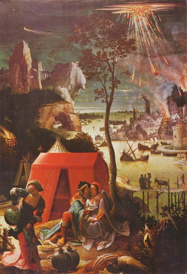 Лот с дочерьми Лукаса ван Лейдена. Около 1509 года, Лувр, Париж