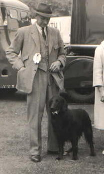 Colin Wells with Ch Woodlark c. 1959-60