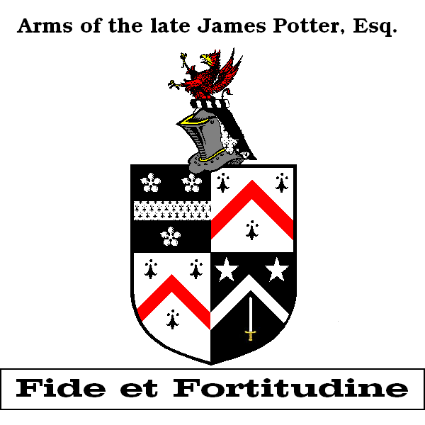 The paternal Potter arms, undifferenced