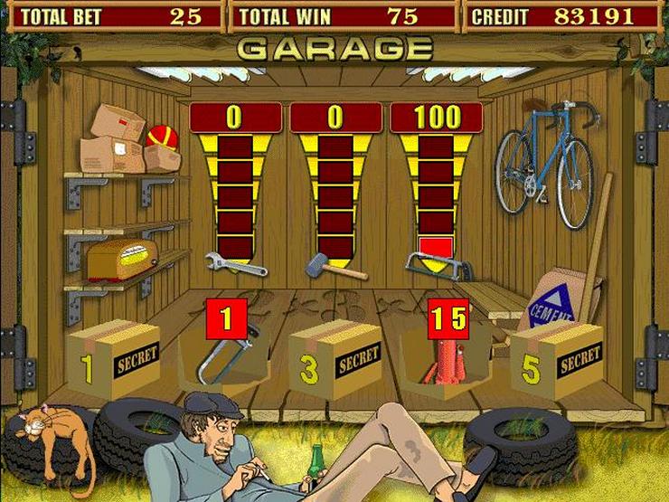Garage - «Настоящий мужской» игровой слот Garage