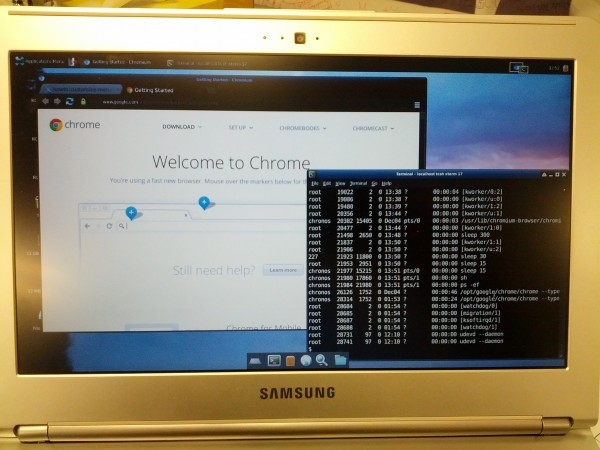 Ubuntu X Windows desktop on my Chromebook