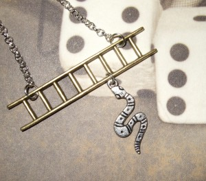 Snakes and Ladders necklace by flonightingale 5