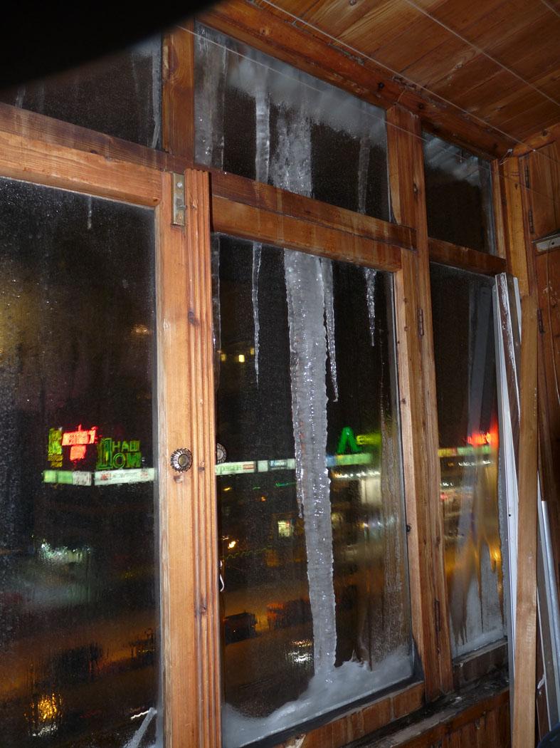 Лёд на окне