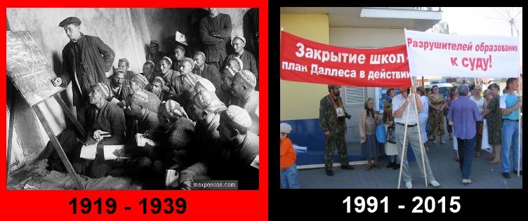 Подходы в образовании у большевиков и младореформаторов