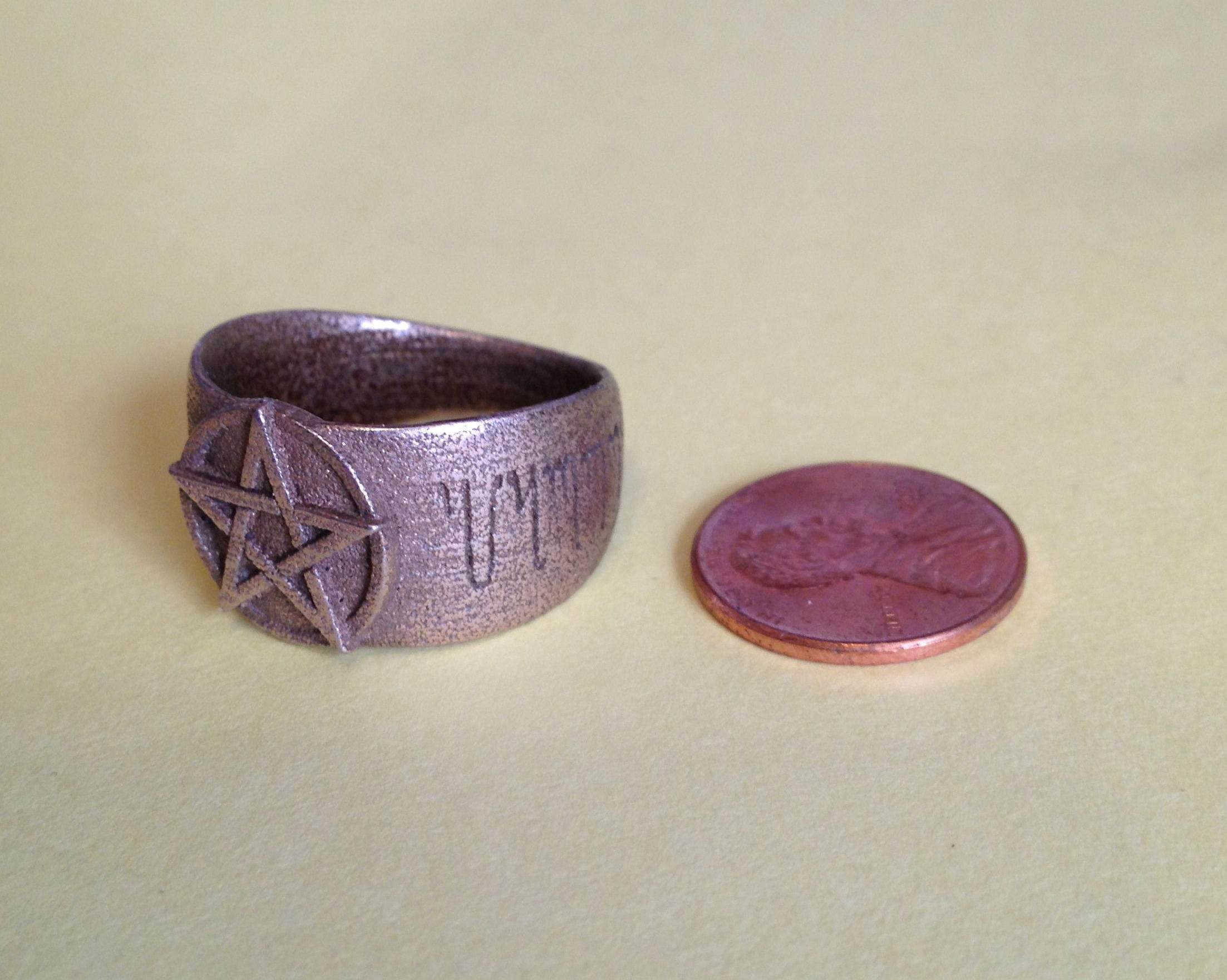 3D pentacle ring photo