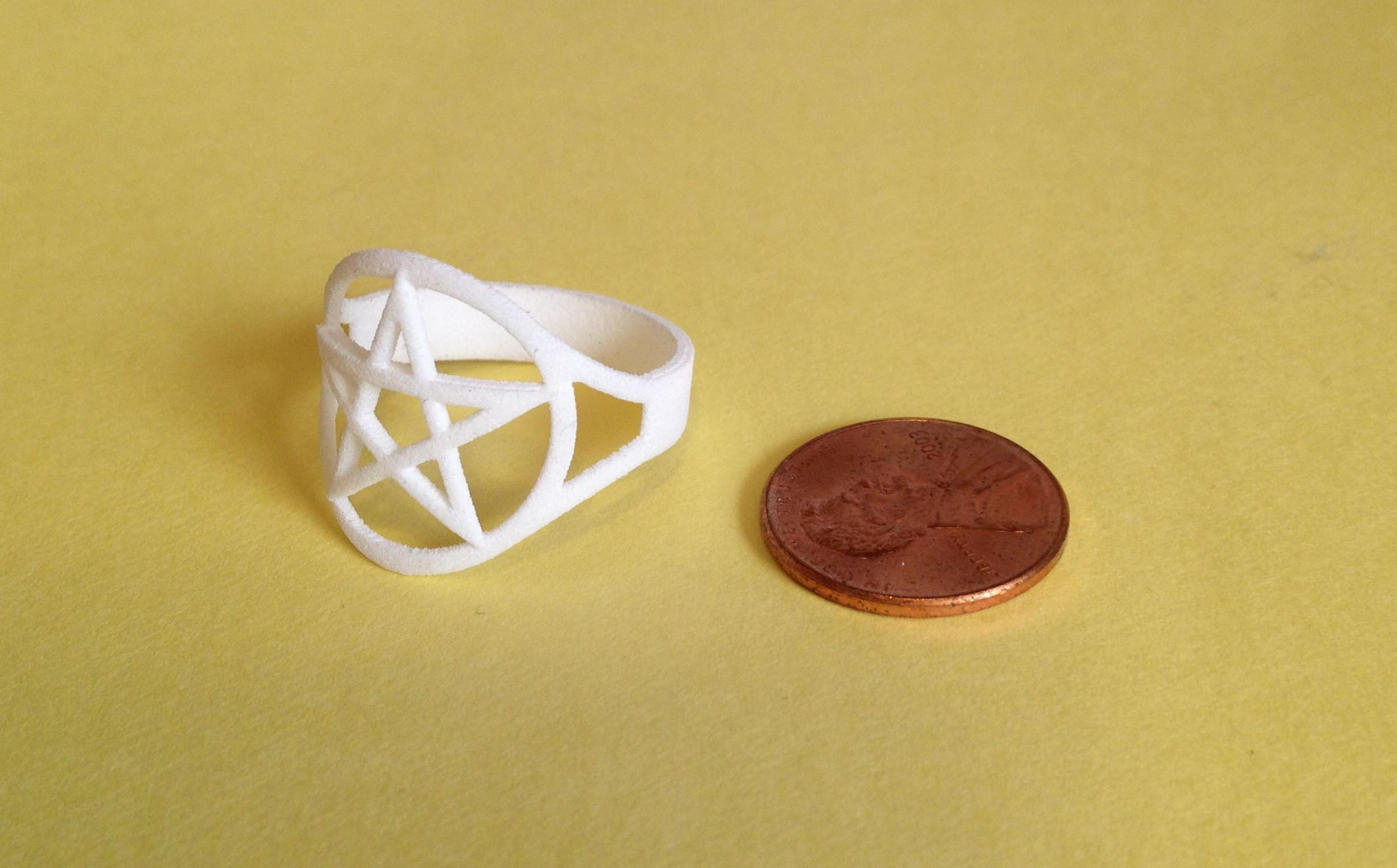 outline pentacle ring