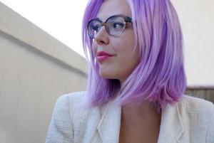Светло сиреневый цвет волос