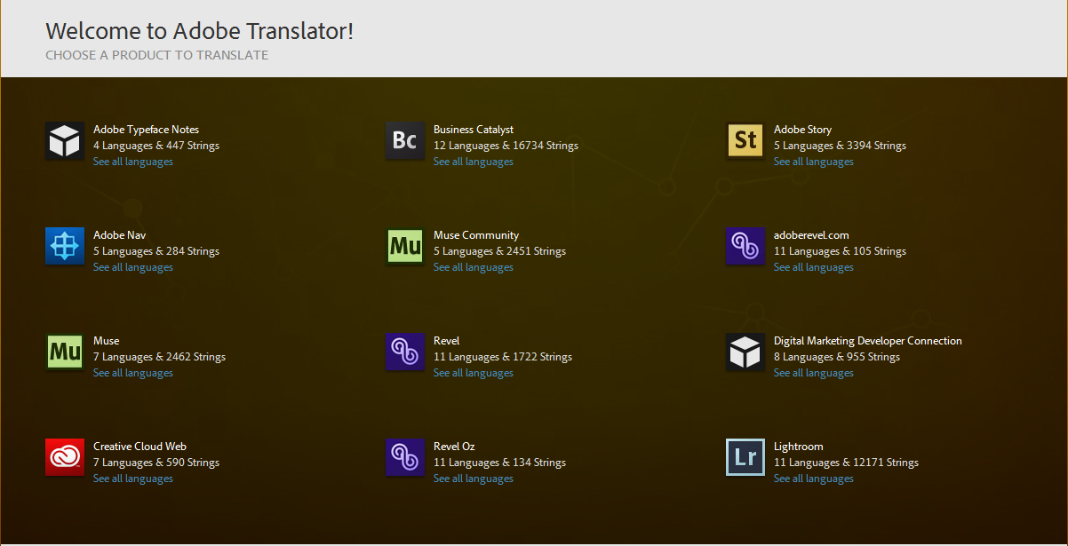 Adobe translator