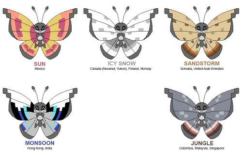 Vivillon Patterns Map Beauteous Vivillon Patterns