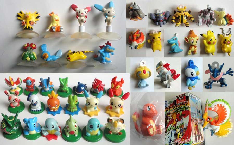 SET 6 Figure POKEMON ADVANCED Tomy ORIGINALI Pikachu Torchic Seviper FIGURES