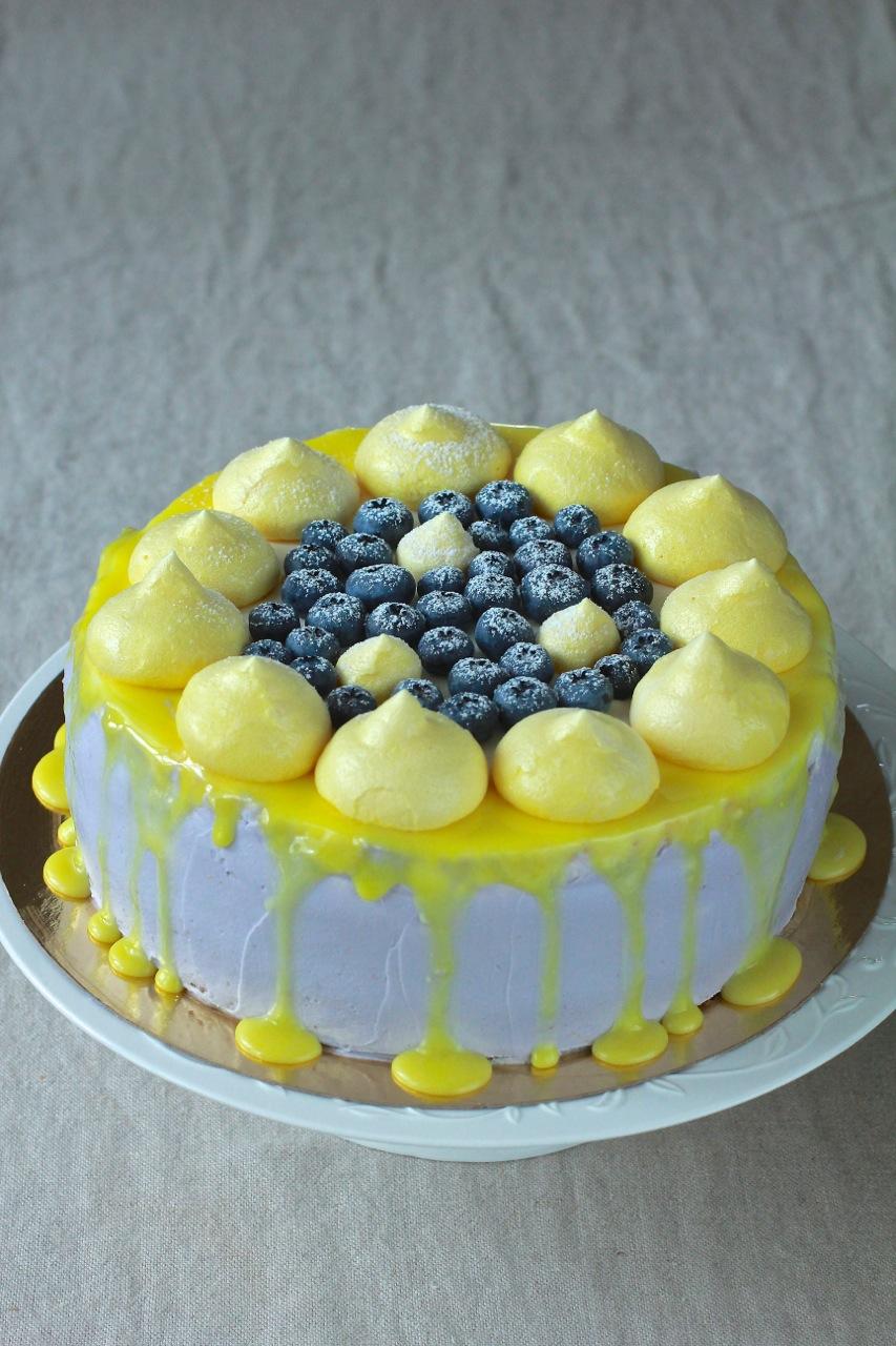 бисквит черника-лимон