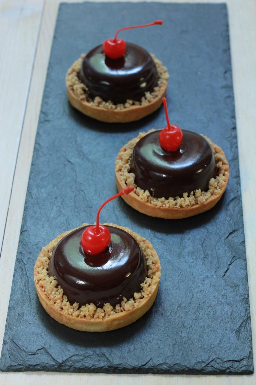 тарты шоколад вишня