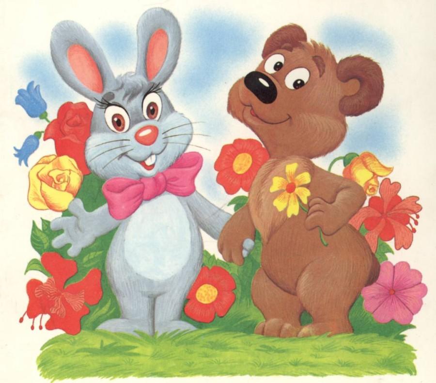 Днем рождения, картинки для детей зайчиков и дружбе