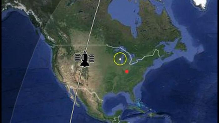 траектория движения спутника КНДР