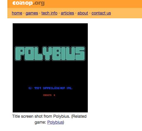 скрин игры Polybius
