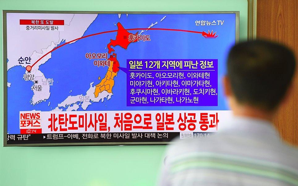 траектория движения баллистической ракеты северной кореи