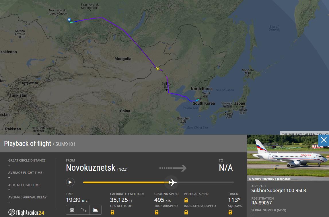 данные с flightradar24