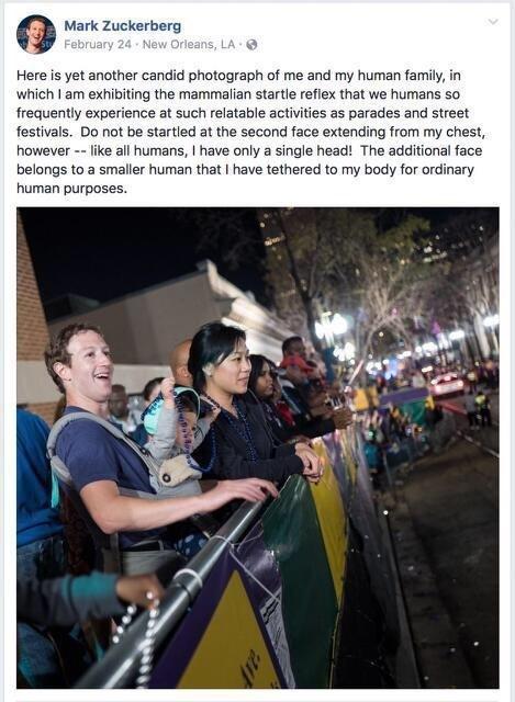 очень странный пост Цукерберга будто он и правда рептилоид