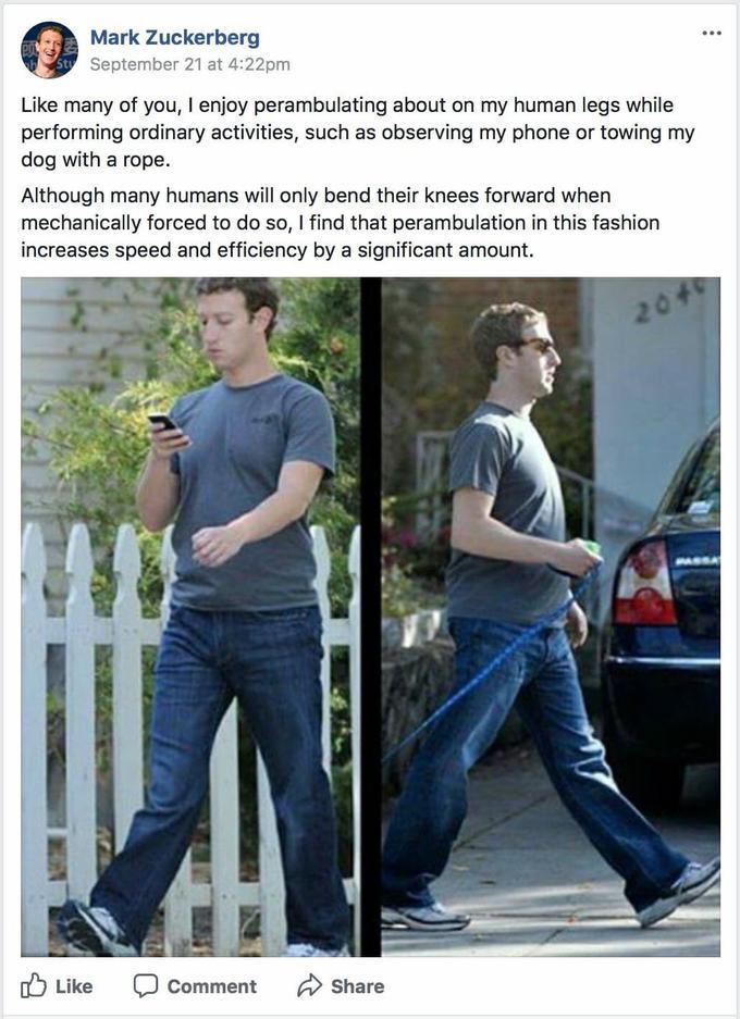 фейковый пост про ноги Цукерберга