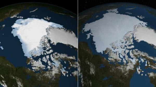 arctic sea ice 2012 vs 2013