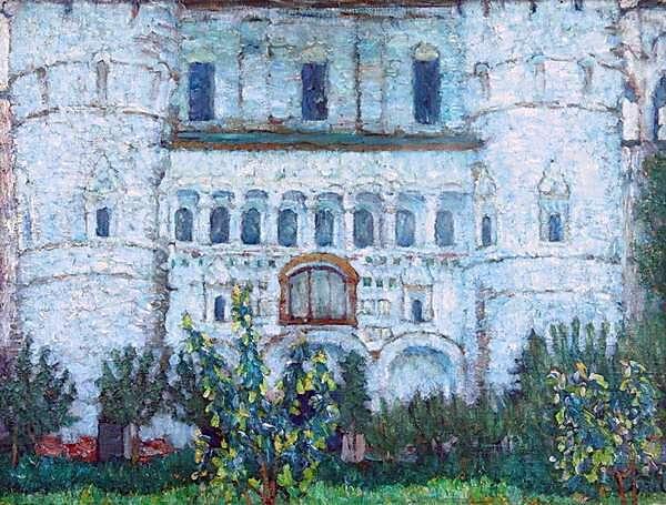 1906 Ворота Ростовского Кремля. Холст, масло. 61х79. ЧС, М