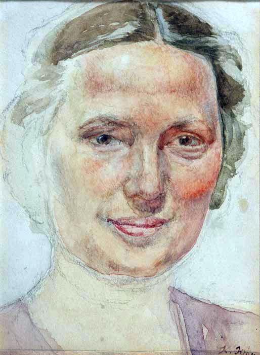 Portrait of K. A. Yuon, artist's wife - Константин Юон