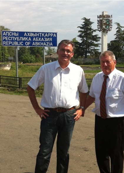 At the border, arriving in Abkhazia on the 25th of August