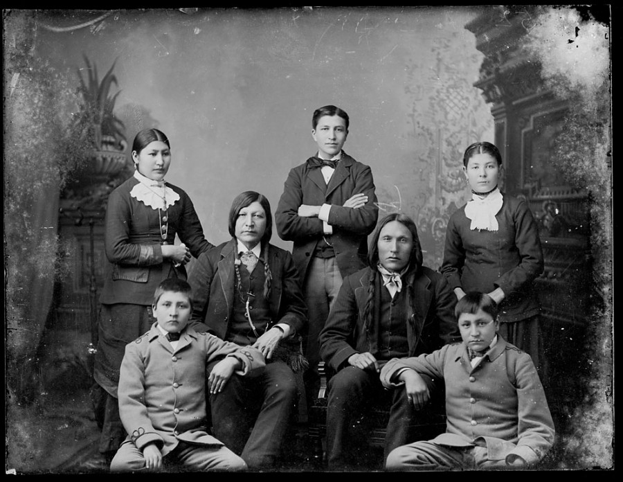 Luther Standing Bear family