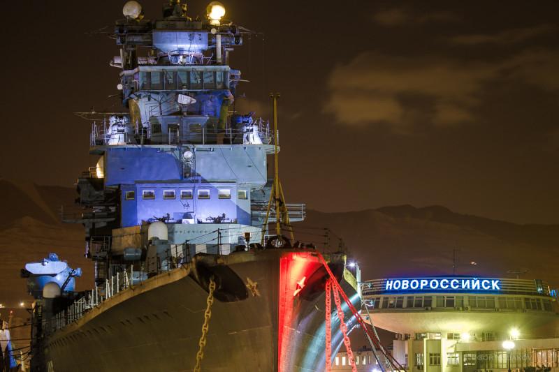 Крейсер Кутузов на Морском вокзале