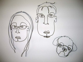 Wire portraits