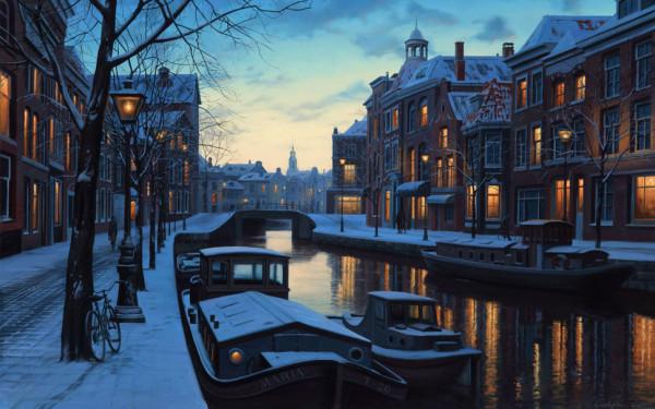178033__winter-twilight-eugeny-lushpin-painting-amsterdam-netherlands-holland-boats-evening-lights_p