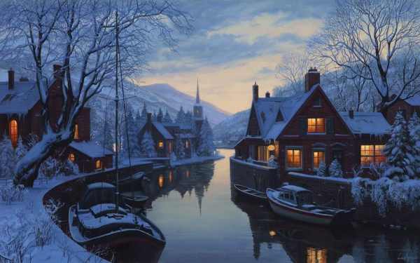 177778__an-old-inn-by-the-river-eugeny-lushpin-painting-lushpin-winter-snow-houses-chapel-trees_p