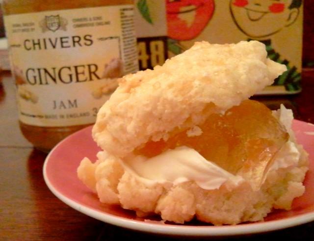 Gingery scones