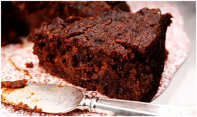 A slice of Black Cake