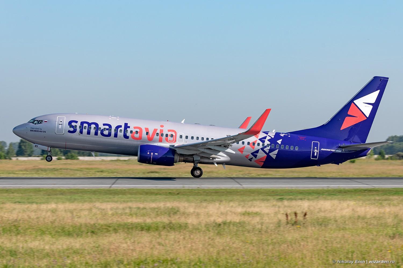 Первый рейс SmartAvia в Новосибирск