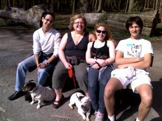 morris, me, sammie, benjamin and the pups!