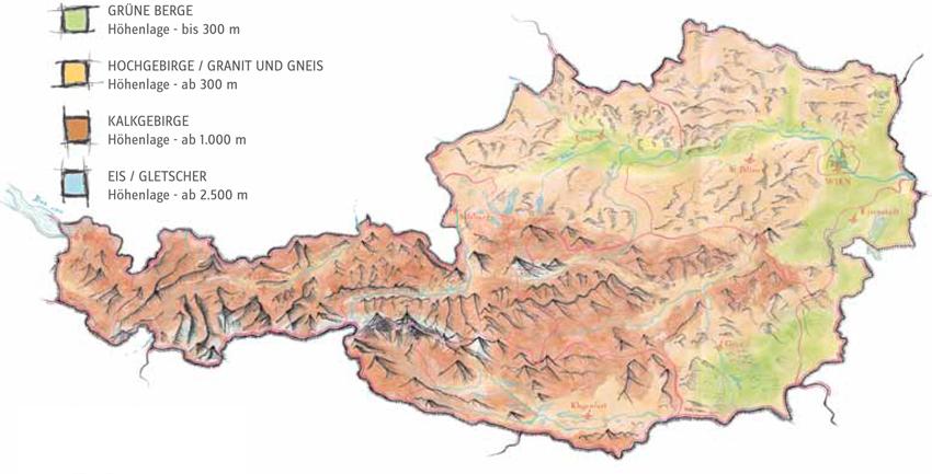 18 Avstriya Karta Landshafta Ru Austria Trek Livejournal