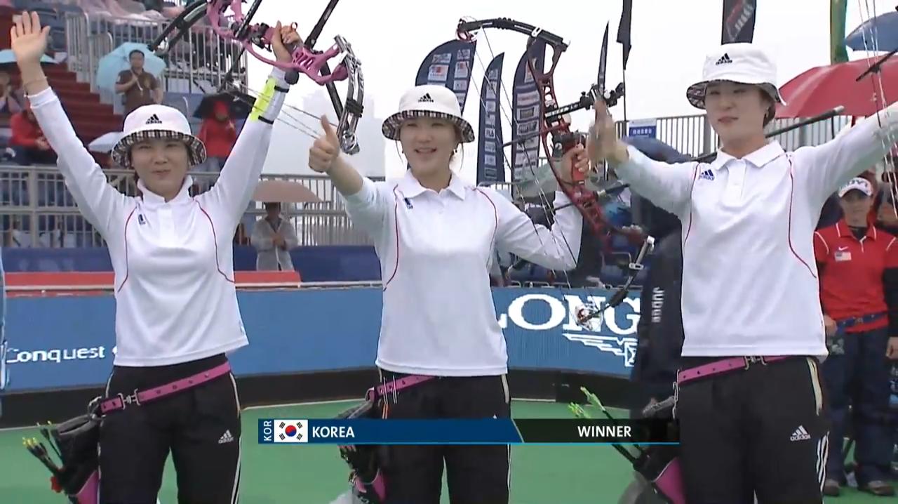Compound Women Team Gold - Shanghai - Archery World Cup 2013