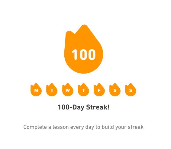 1. 100 дней на Дуолинго